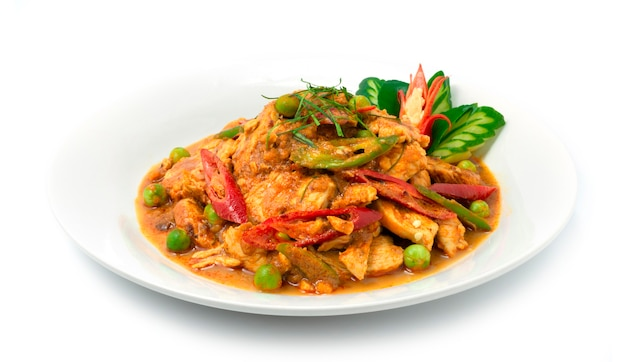 Thai pan food fusion von chicken panang red curry