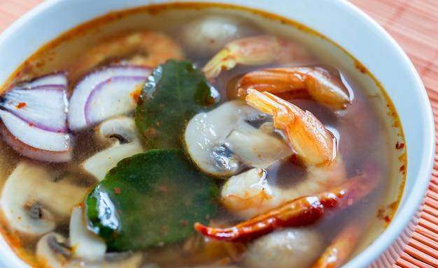 Thai tom yum suppe