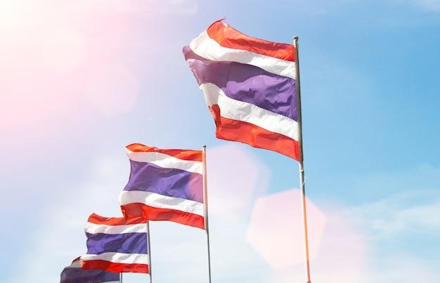 Thailändische flagge roll hintergrund