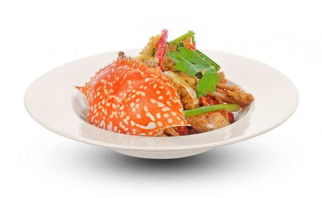 Thailändische küche, gebratene krabbe mit currypulver