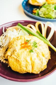 Thailändische nudel der eierverpackungsauflage