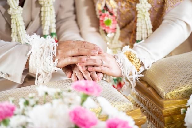 Thailändische traditionelle hochzeitsdekorationen