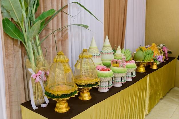 Thailändische traditionelle zeremonie, verlobung