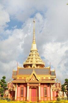Thailändisches königliches begräbnis und tempel in bangkok thailand