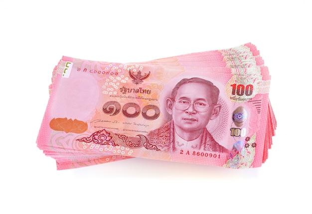 Thailand-geldscheine, bahtwährung