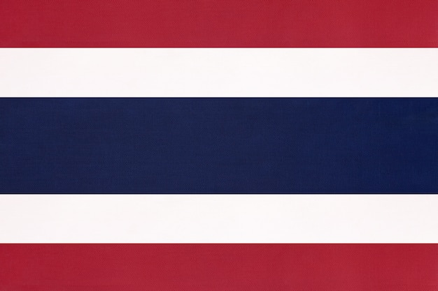 Thailand national stoff flagge