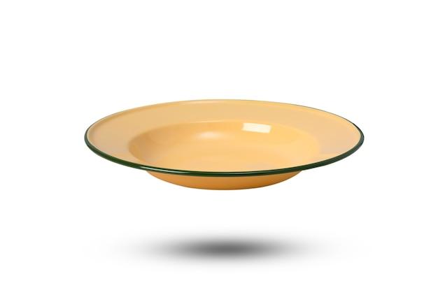Thailand vintage keramikschale auf isolierter weißer oberfläche dish