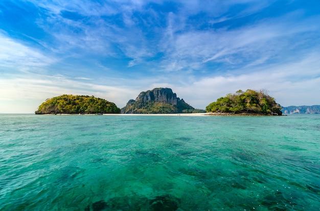 Thale waek trennte meer krabi, thailand