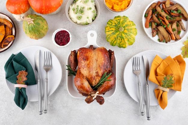 Thanksgiving day leckere speisenauswahl