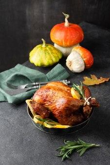 Thanksgiving day leckeres essensarrangement