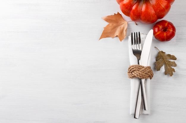Thanksgiving herbst tabelleneinstellung