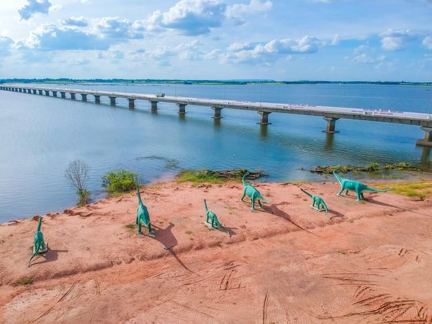 Thep sada bridge der lam pao dam bei kalasin, thailand.