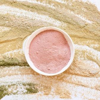 Therapie entspannender rosa sand des spa