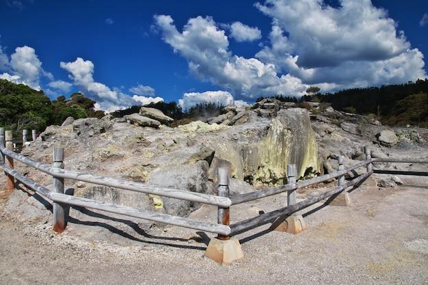 Thermalpark in rotorua, neuseeland