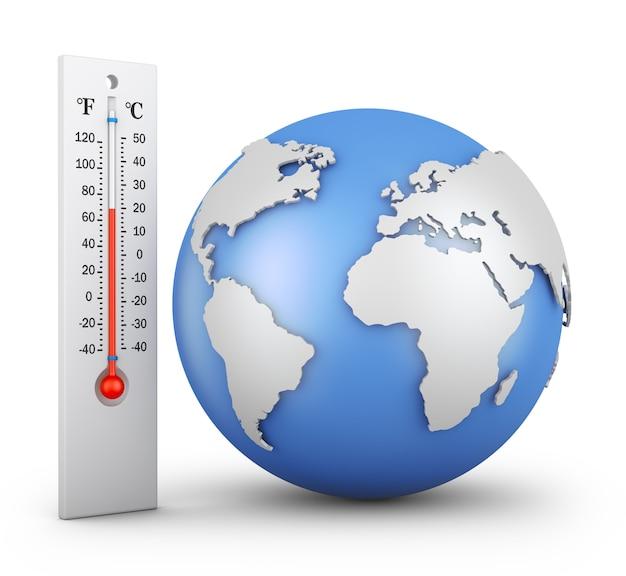 Thermometer und globus