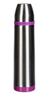 Thermosflasche lokalisiert auf einem weißen hintergrund