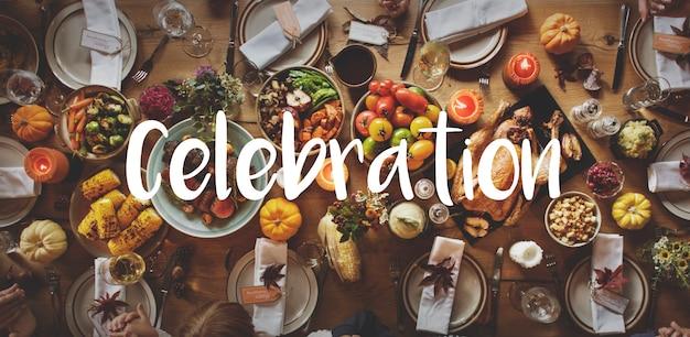 Thnaksgiving-segen, der dankbares mahlzeit-konzept feiert