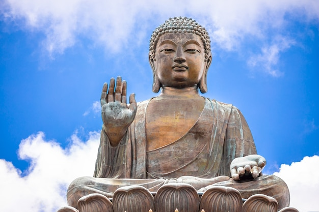 Tian tan buddha, großer budda, der enorme tian tan buddha an po lin-kloster in hong kong