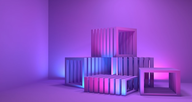 Tiefen-hintergrund der geometrie-3d