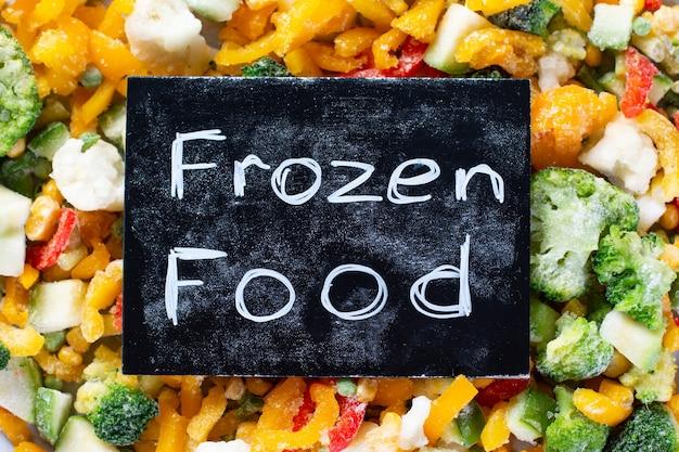 Tiefkühlkost, gemüse und fleisch