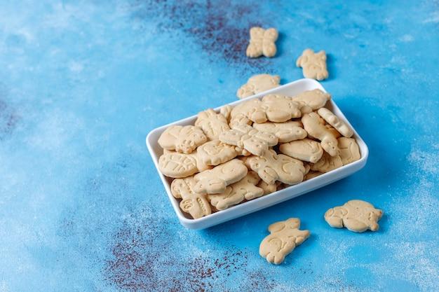 Tierförmige cracker.