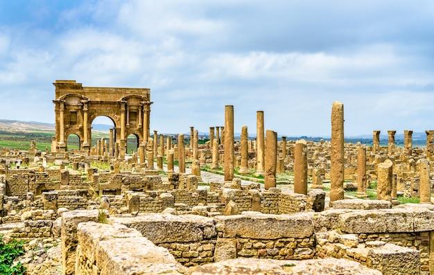 Timgad, ruinen einer römisch-berberischen stadt,