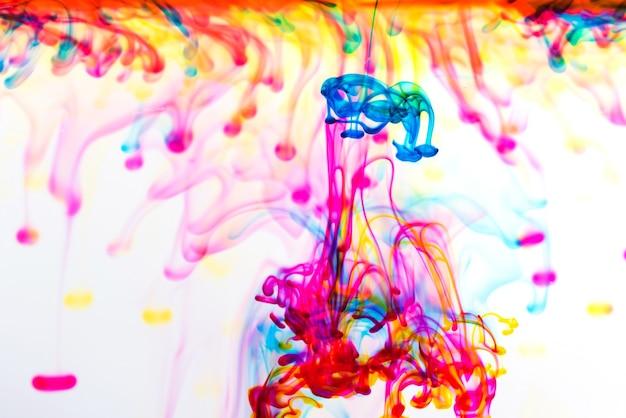 Tintenfarbe ins wasser fallen lassen, hintergrundfarbe, rauchtextur