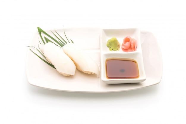 Tintenfisch-sushi-nigiri - japanisches essen