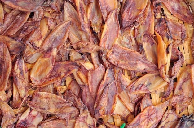 Tintenfisch trocknen