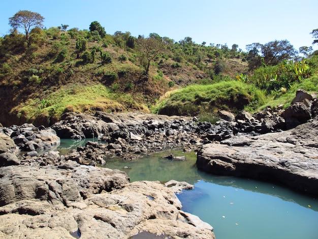 Tis abbay - wasserfälle des blauen nils in äthiopien