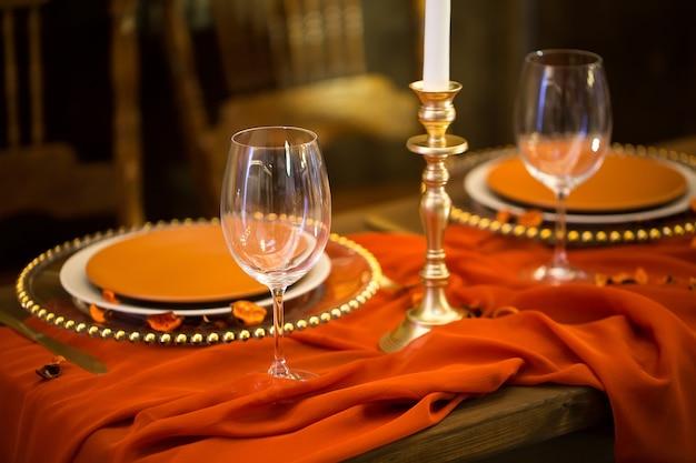 Tischdekoration im restaurant