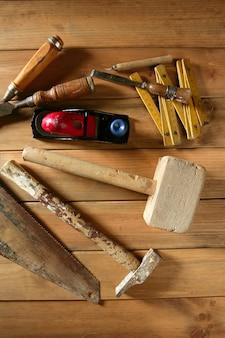 Tischlerwerkzeuge sahen hammer holzband hobelhobel