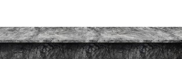 Tischplatte beton loft-stil, verwendet für die anzeige oder montage ihrer produkte, isoliert auf weißem hintergrund