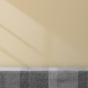 Tischprodukt-kulisse mit designraum