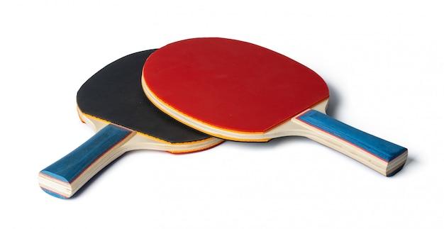 Tischtennisschläger, isoliert auf weiss