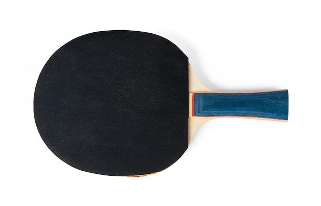 Tischtennisschläger isoliert auf weiß