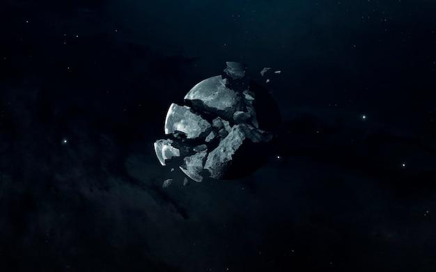 Tod des planeten im weltraum
