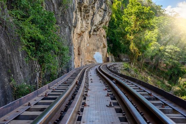 Todeseisenbahn, errichtet während des zweiten weltkrieges, kanchanaburi thailand