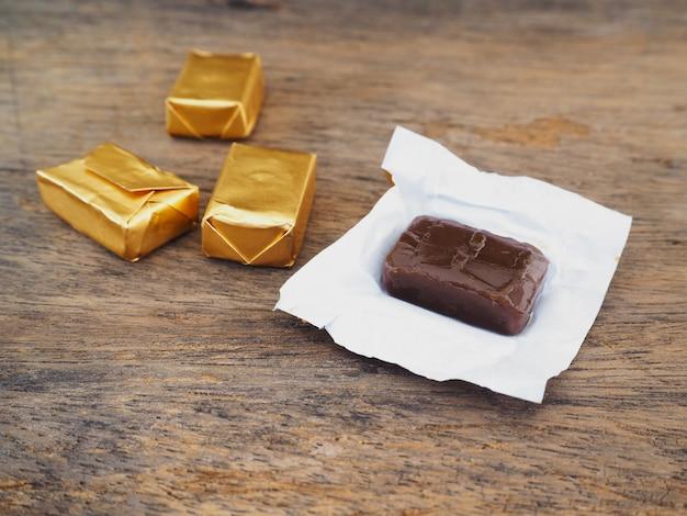 Toffee- und goldverpackung
