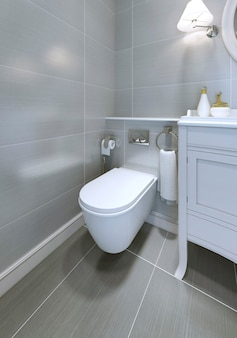 Toilette im klassischen badezimmerstil