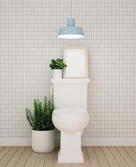 Toilettenauslegung in der wohnung oder im hotel - wiedergabe 3d