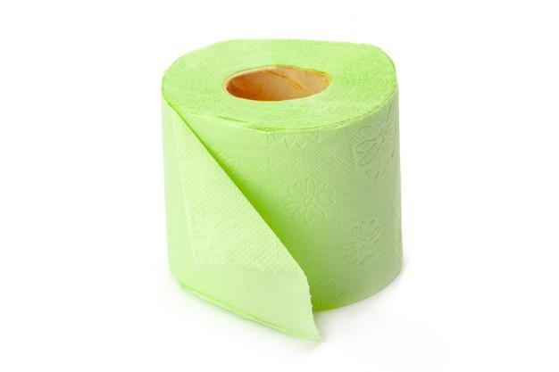 Toilettenpapier getrennt auf weiß