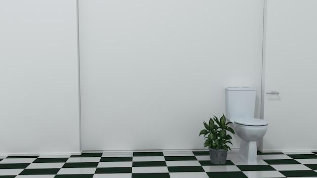 Toilettensitzdekoration im badezimmerinnenraum. 3d-rendering