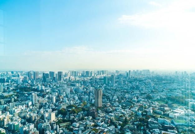 Tokyo stadt skyline mit tokyo tower