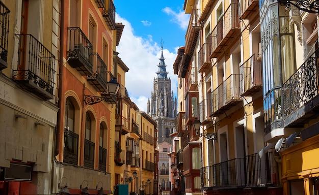 Toledo-fassaden in kastilien la mancha spanien