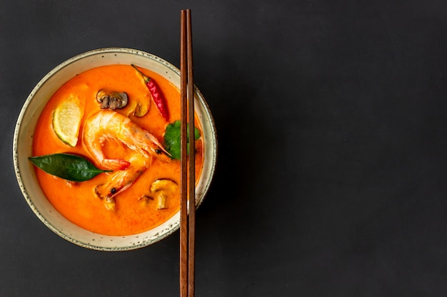 Tom lecker suppe. thailändische cousine. gesundes essen. rezepte.