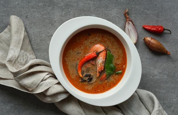 Tom yam kung würzige thai-suppe