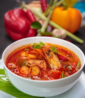 Tom yum goong, thai essen