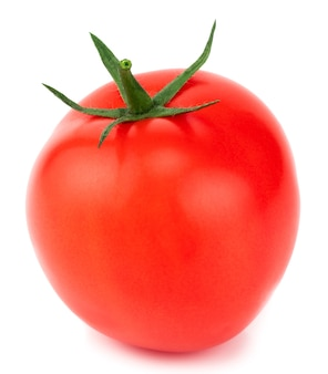 Tomate isoliert. tomate mit schnittpfad.