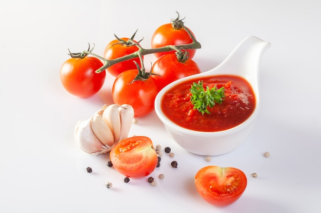 Tomatensauce, gaspacho, ketchup
